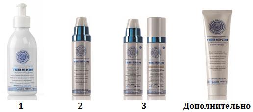 Программа Tebiskin для восстановления обезвоженной кожи - утро